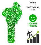 Vettore Joy Benin Map Composition degli smiley Fotografie Stock Libere da Diritti