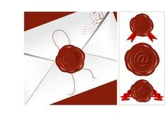 Vettore. Lettera con la guarnizione della cera. Insieme della cera differente Fotografia Stock Libera da Diritti