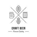 Vettore Logo Craft Beer Immagini Stock