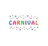 Vettore - logo di celebrazione di festival di carnevale, isolato su fondo bianco Illustrazione di vettore illustrazione vettoriale
