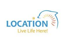 Vettore - logo di promozione della città o della città, isolato su fondo bianco Illustrazione di vettore royalty illustrazione gratis