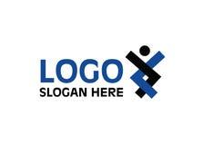 Vettore - logo di unità della gente, isolato su fondo bianco Illustrazione di vettore illustrazione di stock