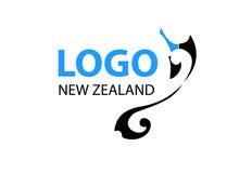 Vettore - logo moderno della Nuova Zelanda, isolato su fondo bianco Illustrazione di vettore illustrazione di stock