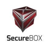 Vettore Logo Secure Box Fotografia Stock
