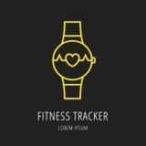 Vettore Logo Template Fitness Tracker semplice Fotografia Stock Libera da Diritti