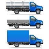 Vettore Lorry Icons Set 2 Immagine Stock Libera da Diritti