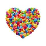 Vettore lucido del fondo del cuore dei palloni di colore Fotografia Stock