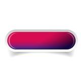 Vettore lucido porpora del bottone della barra di web illustrazione di stock