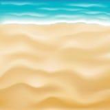Vettore luminoso reale del fondo della spiaggia della sabbia di mare illustrazione vettoriale