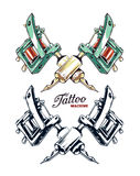 Vettore a macchina del tatuaggio Fotografia Stock