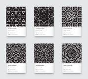 Vettore Mandala Black ed affare verticale d'avanguardia grafico bianco Fotografia Stock