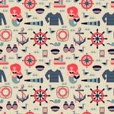 Vettore Marine Seamless Pattern Fotografia Stock