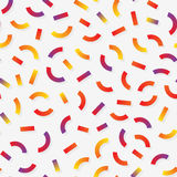 Vettore Memphis Style Lines Jumble Pattern multicolore senza cuciture Fotografie Stock