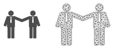 Vettore Mesh Businessmen Relations poligonale ed icona piana royalty illustrazione gratis