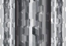 Vettore moderno del fondo del poligono di progettazione futuristica grigia astratta di tecnologia Fotografie Stock Libere da Diritti
