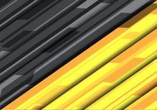 Vettore moderno del fondo del poligono di progettazione futuristica grigia gialla astratta di tecnologia Immagini Stock Libere da Diritti