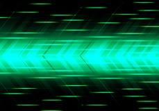 Vettore moderno futuristico del fondo della freccia di velocità di tecnologia verde astratta di potere illustrazione di stock