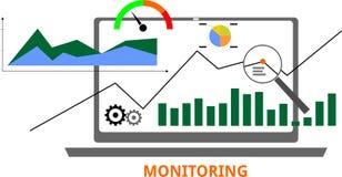 Vettore - monitoraggio Fotografia Stock