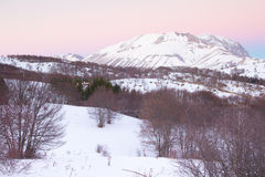 Vettore mountain at sunset Royalty Free Stock Photo