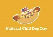 Vettore nazionale di Chili Dog Day royalty illustrazione gratis
