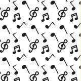 Vettore nero del modello di musica della nota Immagine Stock Libera da Diritti