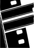 Vettore nero della bobina di film della siluetta Fotografie Stock