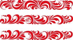 Vettore Ornamento tradizionale russo Hohloma Immagine Stock Libera da Diritti