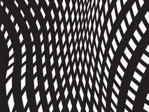 Vettore ottico bianco nero del fondo di progettazione del modello Immagine Stock