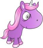 Vettore pazzesco dell'unicorno Immagini Stock