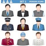 Vettore Person Icons Set 1 Fotografie Stock Libere da Diritti