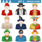 Vettore Person Icons Set 3 Fotografia Stock Libera da Diritti