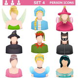 Vettore Person Icons Set 4 Fotografie Stock
