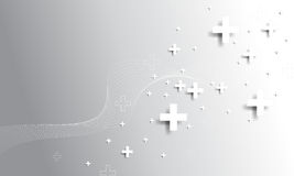 Vettore più il fondo di concetto di simbolo Fotografie Stock