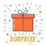 Vettore piano dei contenitori di regalo di sorpresa royalty illustrazione gratis