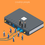 Vettore piano del rifornimento del router di Wi-Fi della rete locale di servizio di Internet Immagini Stock