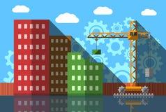 Vettore piano dell'estratto di progettazione della costruzione di appartamento in costruzione Fotografia Stock