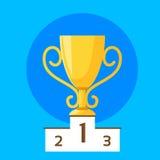 Vettore piano di progettazione del primo posto della tazza del vincitore illustrazione vettoriale