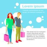Vettore piano di progettazione variopinta della borsa delle coppie di acquisto royalty illustrazione gratis