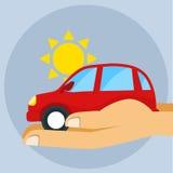 Vettore piano di stile dell'assicurazione auto Immagini Stock