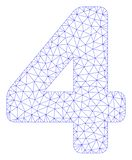Vettore poligonale Mesh Illustration della struttura di 4 cifre royalty illustrazione gratis