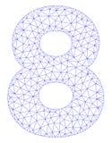 Vettore poligonale Mesh Illustration della struttura di 8 cifre illustrazione vettoriale