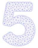 Vettore poligonale Mesh Illustration della struttura di 5 cifre royalty illustrazione gratis