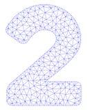 Vettore poligonale Mesh Illustration della struttura di 2 cifre royalty illustrazione gratis