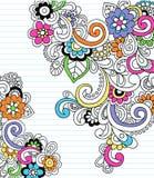 Vettore psichedelico di Doodle del taccuino di Paisley royalty illustrazione gratis
