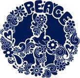 Vettore psichedelico Illus della siluetta del segno di pace Fotografia Stock Libera da Diritti