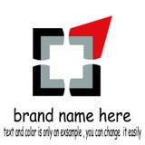 Vettore quadrato astratto di logo royalty illustrazione gratis