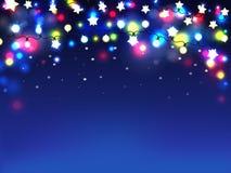 Vettore realistico della ghirlanda multicolore di festa illustrazione di stock