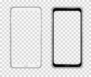 Vettore realistico di Smartphone del cellulare del dispositivo della struttura del telefono di Android dello schermo attivabile a illustrazione di stock