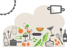 Vettore - ristorante dell'alimento Fotografie Stock