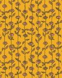 Vettore Rose Flowers Pattern Background nella retro illustrazione di stile Immagine Stock Libera da Diritti